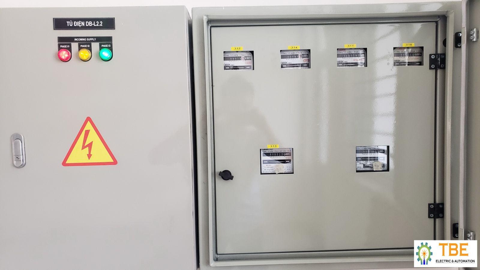 Thiết kế lắp đặt đồng hồ đo điện năng các phòng làm việc