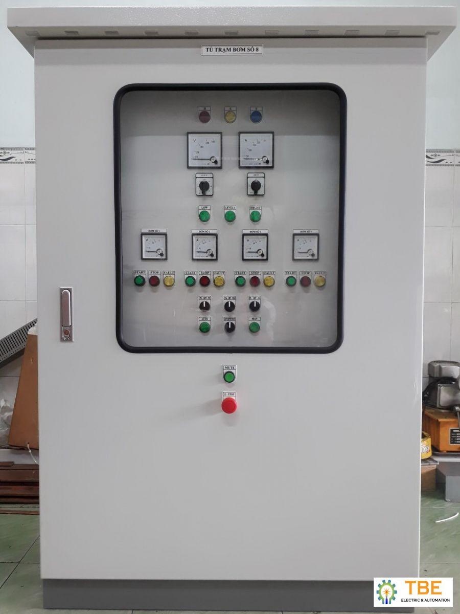 Cung cấp lắp đặt tủ điều khiển hệ thống bơm cấp nước sinh hoạt  - nhà máy nước Hà Tĩnh